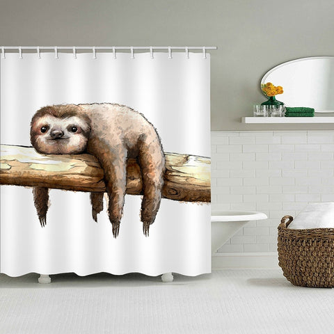 Lazy Laying Sloth Shower Curtain