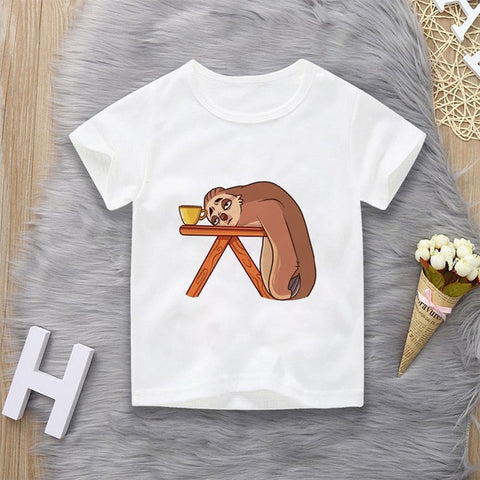 Napping Coffee Sloth T-shirt