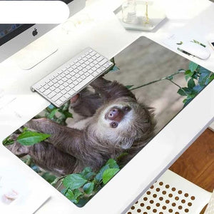 Upside Down Sloth Mouse Pad
