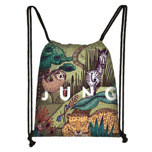 Sloth and Friends Drawstring Backpack