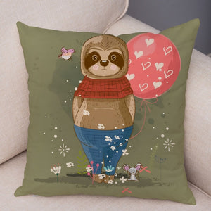 Fatty Sloth Cushion Cover
