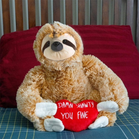 Image of Valentines Day Sloth Toy