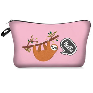 Sloth Greets Makeup Bag