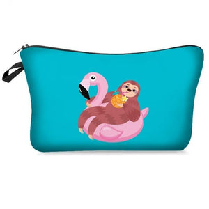 Floating Sloth Makeup Bag