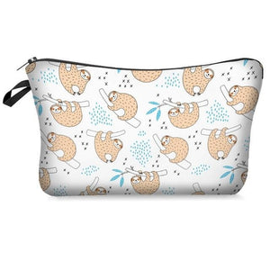 Group of Happy Sloth Makeup Bag