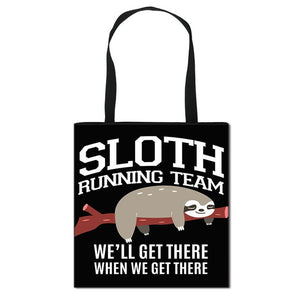 Running Team Sloth Tote Bag