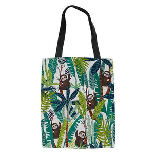 Tall Grass Sloth Tote Bag