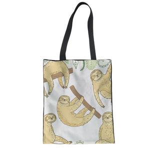 Eyes Closed Sloth Tote Bag