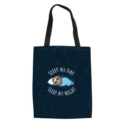 All Night Sleeping Sloth Tote Bag