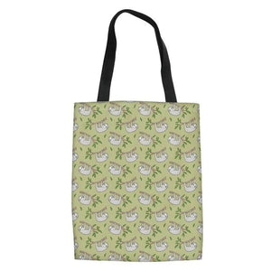 Bamboo Tree Sloth Tote Bag