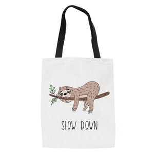 Slow Down Sloth Tote Bag