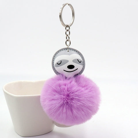 Fluffy Sloth Keyring