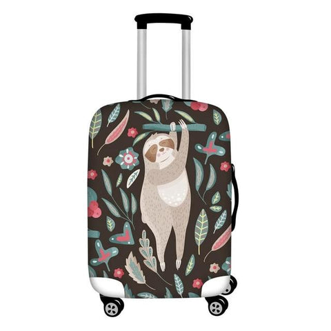 Stand Up Sloth Luggage and Suitcase Cover
