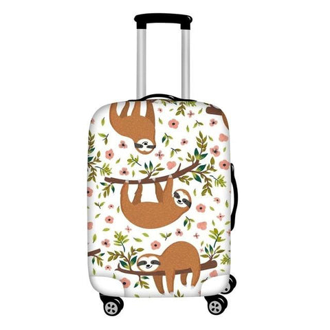 Triple Sloth Luggage and Suitcase Cover