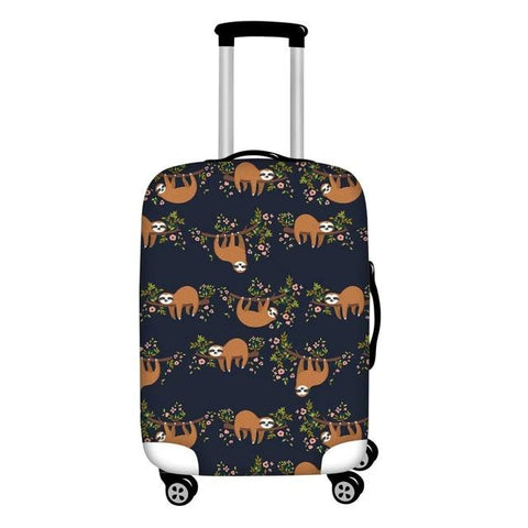Side Sloth Luggage and Suitcase Cover