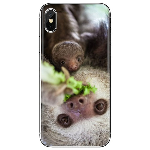 Round Eyes Sloth Samsung Galaxy Case