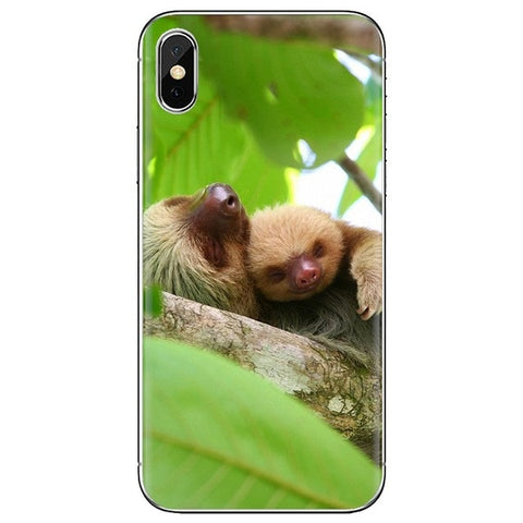 Baby Hugging Mom Sloth Samsung Galaxy Case