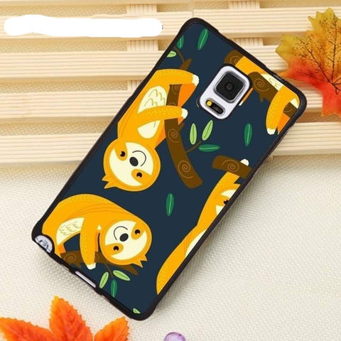 Orange Sloth Samsung Galaxy Case