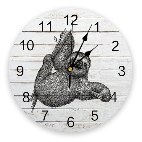 Vintage Sloth Wall Clock