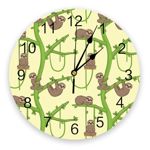 Sloth And The Beanstalk Wall Clock