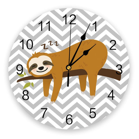 Sleeping Sloth Wall Clock