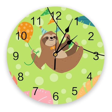 Balloon Sloth Wall Clock