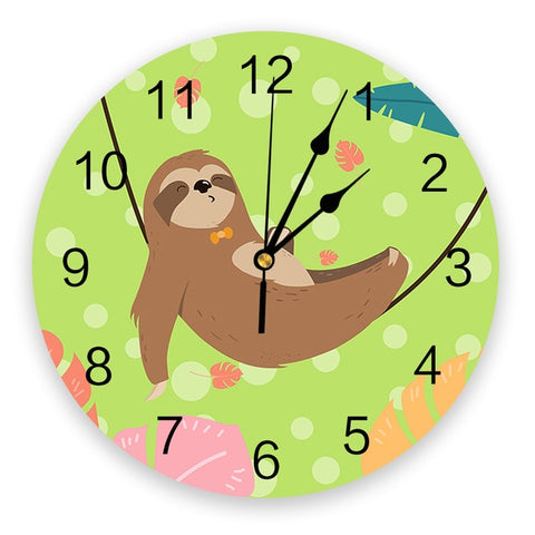 Relaxing Sloth Wall Clock