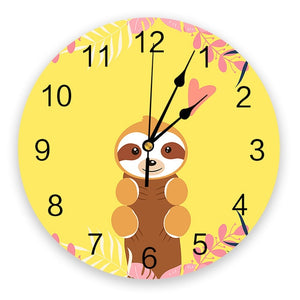 Cutey Sloth Wall Clock
