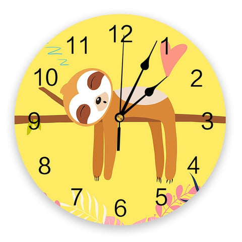 Lovely Sloth Wall Clock
