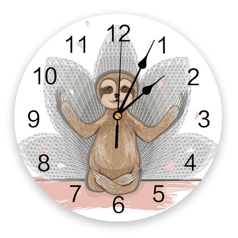 Yoga Pose Wall Clock