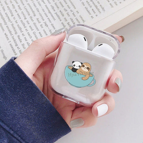 Cup Of Coffee Sloth Airpods Case