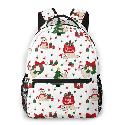 Happy Holiday Sloth Travel Backpack