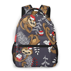 Christmas Sloth Travel Backpack