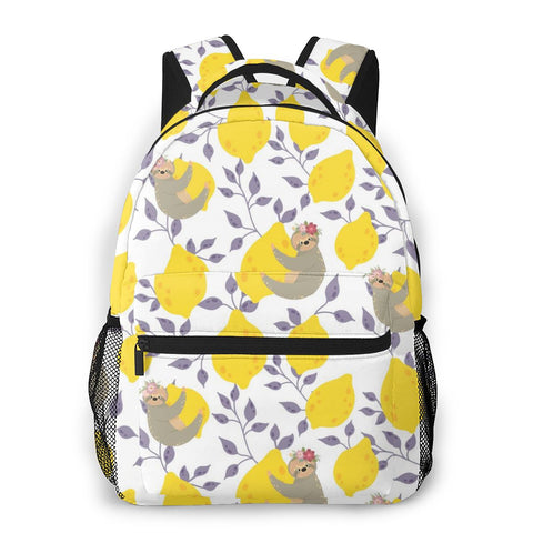 Lemon Sloth Travel Backpack