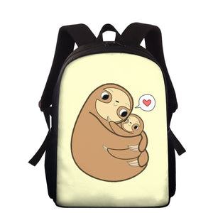 Family Love Sloth Travel Backpack