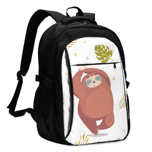 Fat Dancing Sloth Travel Backpack