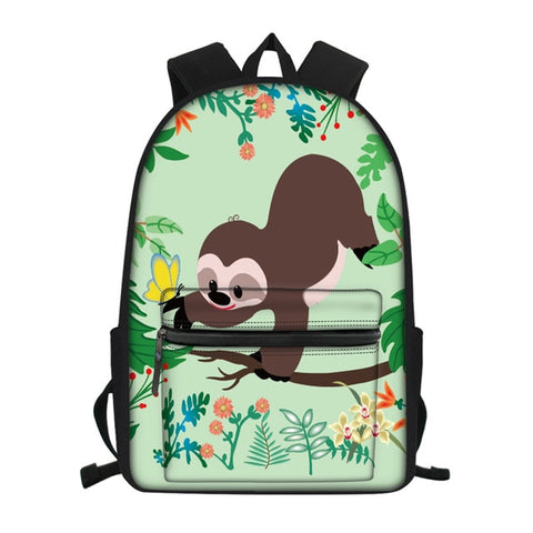 Flower Picking Sloth Travel Backpack