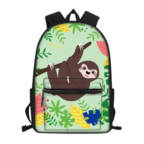 Colorful Sloth Travel Backpack