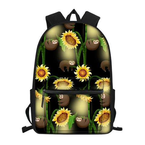 Sunflower Sloth Travel Backpack