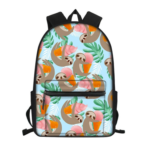 Ice Cream Sloth Travel Backpack