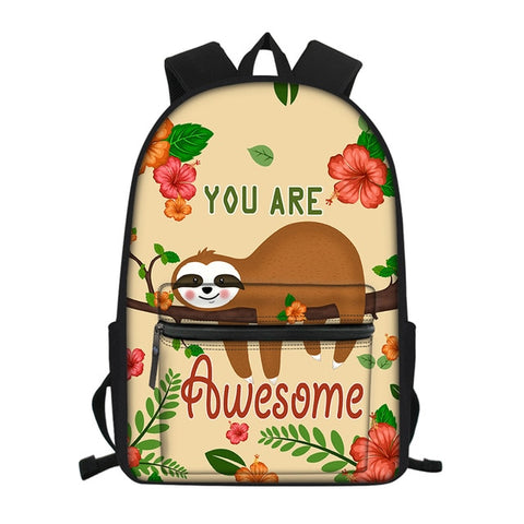 You Are Awesome Sloth Travel Backpack