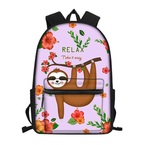 Easy Weezy Sloth Travel Backpack