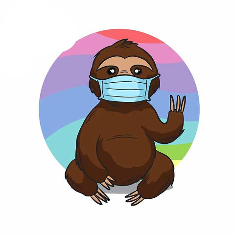 Face Mask Sloth Sticker