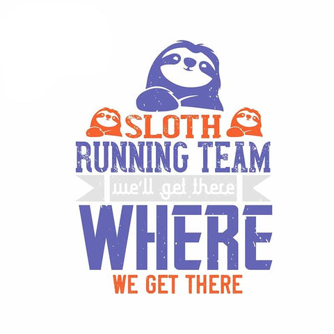 Sloth Running Team Sticker