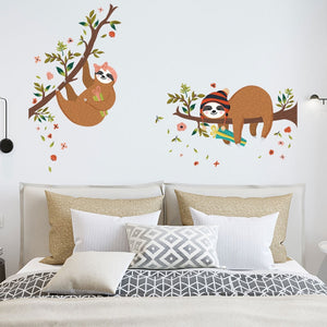 Happy Holidays Sloth Wall Sticker