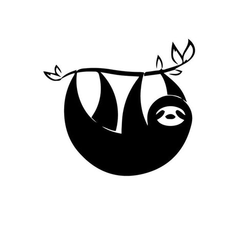 Black and White Sloth Sticker