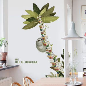 Tree of Knowledge Sloth Wall Sticker