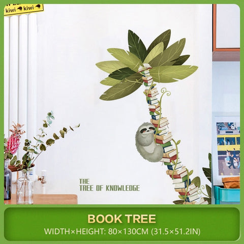 Image of Tree of Knowledge Sloth Wall Sticker