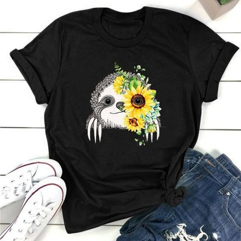 Image of Sunflower Sloth T-shirt