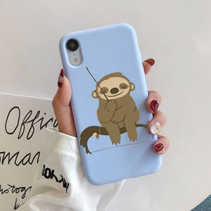 Sitting Sloth iPhone Case